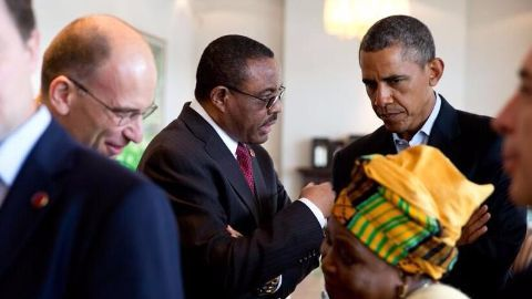 In Ethiopia, Obama highlights human rights concerns