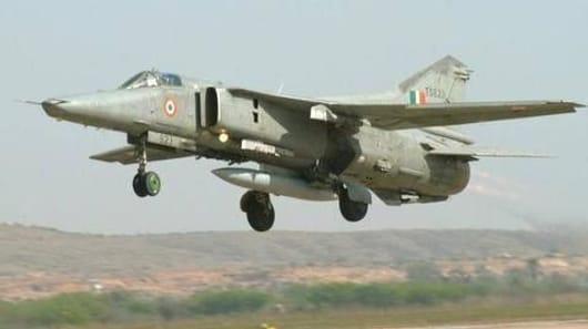 जैसलमेर में मिग-27 लड़ाकू विमान दुर्घटनाग्रस्त