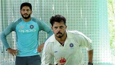 Sreesanth is constantly training