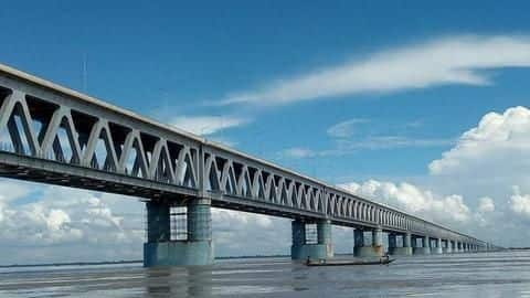देश के सबसे लंबे रेलवे-रोड पुल का उद्घाटन आज, ऊपर दौड़ेंगे वाहन, नीचे चलेगी रेल