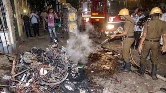 पश्चिम बंगाल में हिंसा को लेकर भाजपा का विरोध-प्रदर्शन