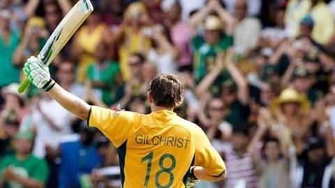 Gilchrist's name is recorded in World Cup