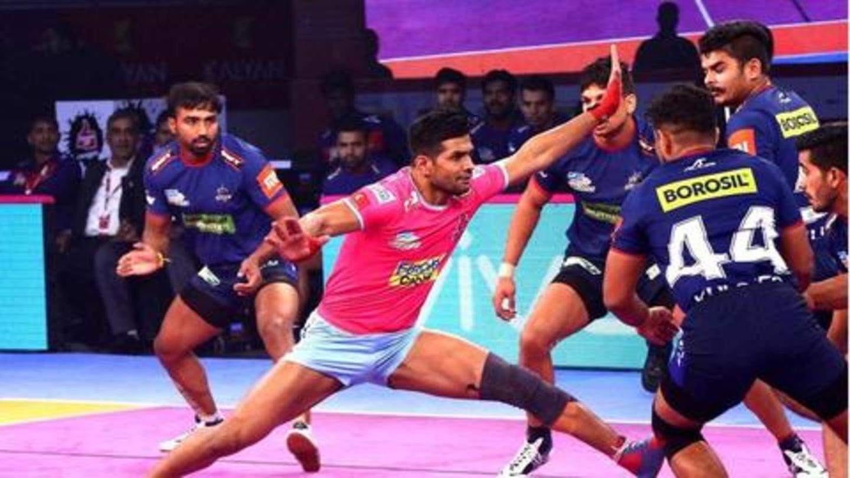 प्रो कबड्डी लीग 2018: हरियाणा की लगातार चौथी हार, जयपुर ने करीबी मुकाबले में दी मात