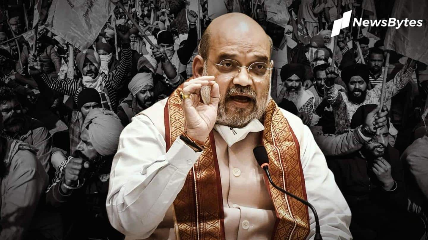 What happened in the farmers' meeting with Amit Shah?