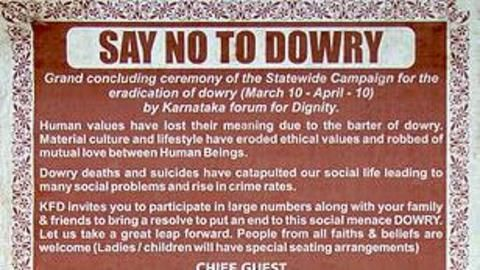 Women at fault for dowry system?