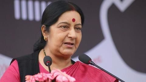 Swaraj slams Pak-based terror in joint statement with US counterpart