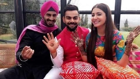 Wishes pour in for Virat and Anushka