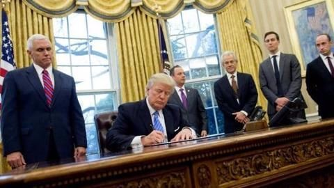 President Trump signs order on abortion policy
