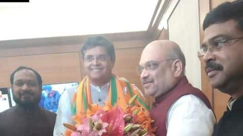 Ahead of elections, former BJD MP Baijayant Panda joins BJP