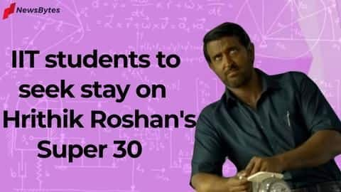 Fresh trouble for Hrithik's 'Super 30', IITians call movie 'inauthentic'