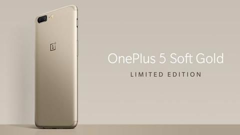 Limited-edition Soft Gold OnePlus 5 launched in India
