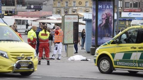 Attacks in Finland's Turku: Man held for stabbing several people