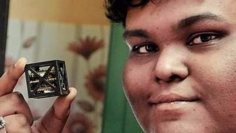 Indian teen gifts world its smallest satellite