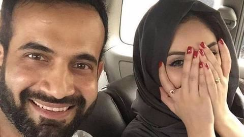 Irfan Pathan attacked for posting wife's un-Islamic pic