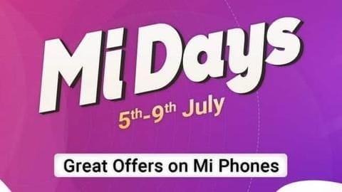 Mi Days sale: Top deals on Xiaomi smartphones