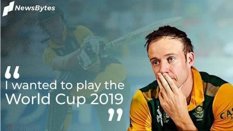AB de Villiers wanted to play World Cup 2019