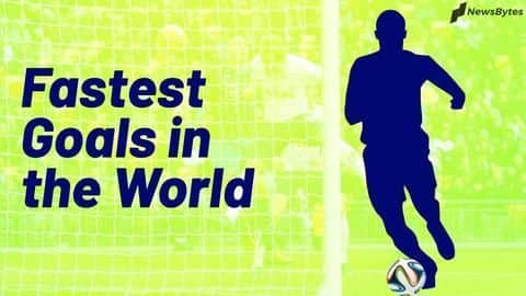 The fastest goals in international football
