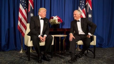 """Trump and Turnbull set aside """"testy"""" relationship"""