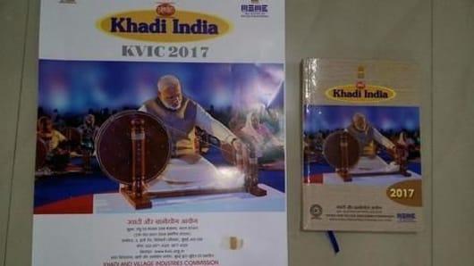 Modi 'replaces' Gandhiji in Khadi Udyog calendar