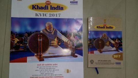 Modi 'replaces' Gandhiji in Khadi Udyog calendar