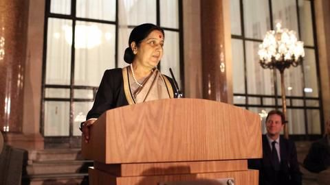 Sushma Swaraj leads Indian delegation to UN General Assembly session