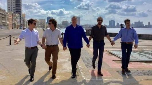 Dutch men walk #handinhand against homophobia