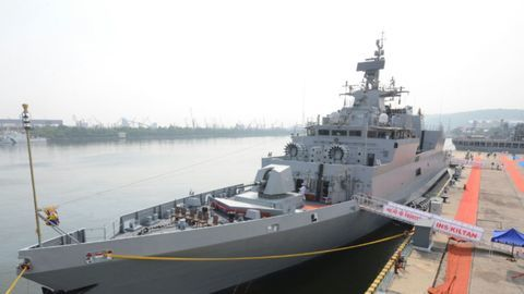 Indian Navy commissions submarine hunter INS Kiltan