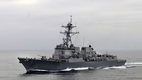 7 US navy sailors missing after warship collision