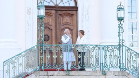 """Modi has """"very good interaction"""" with Merkel during Germany visit"""