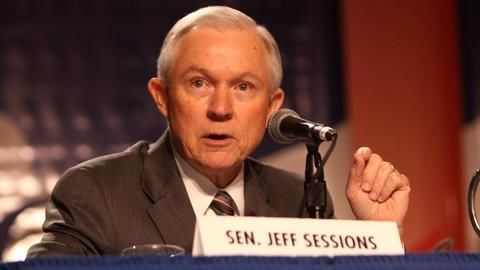 US Attorney General Jeff Sessions gives heated testimony