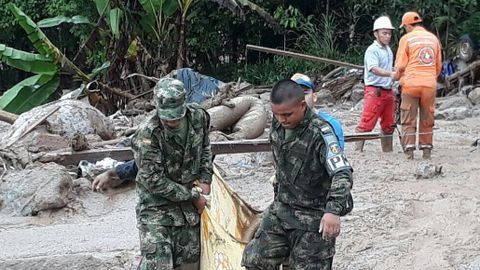 Local infrastructure decimated by landslides, complicates rescue efforts
