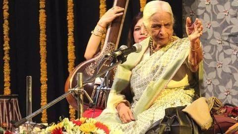 Thumri Queen Girija Devi, 'pride of Banaras Gharana', dead