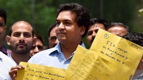 Kapil Mishra records statement against AAP
