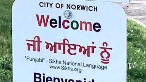 Punjabi reaches American welcome signages