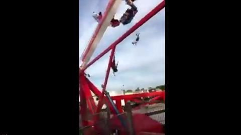 Shocking tragedy: Amusement ride breaks apart, one killed, several critical