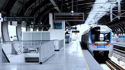 PM Modi launches the new Hyderabad Metro