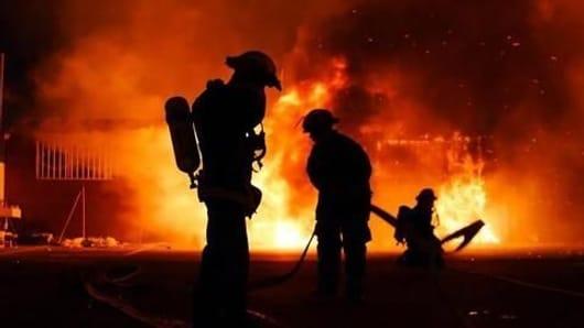 Train catches fire at Mokama