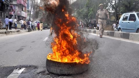 At least one killed in clashes in Jaipur