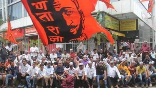 Maratha protests continue in Mumbai