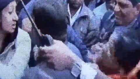 When a cop slapped an angry MLA!