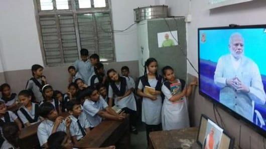 HRD wants photos/videos of students watching Modi's program