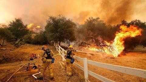 California: Thousands evacuate amid massive wildfires