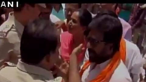Viral video: Sena MP Gaikwad now seen arguing with cops