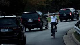 Employers fire cyclist who showed middle-finger to Trump's motorcade