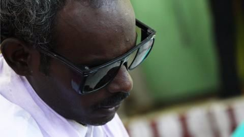 Visually challenged teacher responds to the training