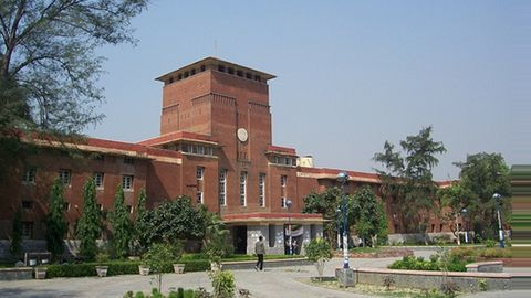 Students caught cheating during Delhi University's entrance exams