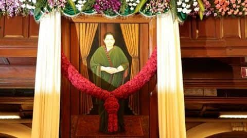 Jayalalithaa's portrait in TN Assembly; DMK moves court for removal
