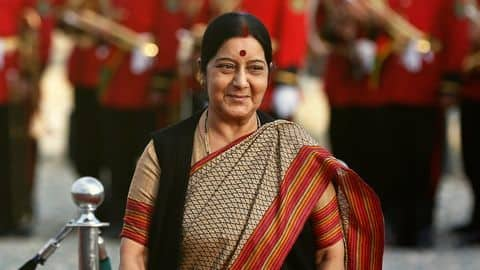 Why is External Affairs Minister Swaraj visiting China?