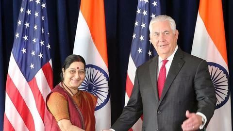 Sushma meets US Secretary of State Tillerson