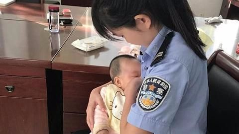 Chinese cop breastfeeds suspect's baby, wins the internet